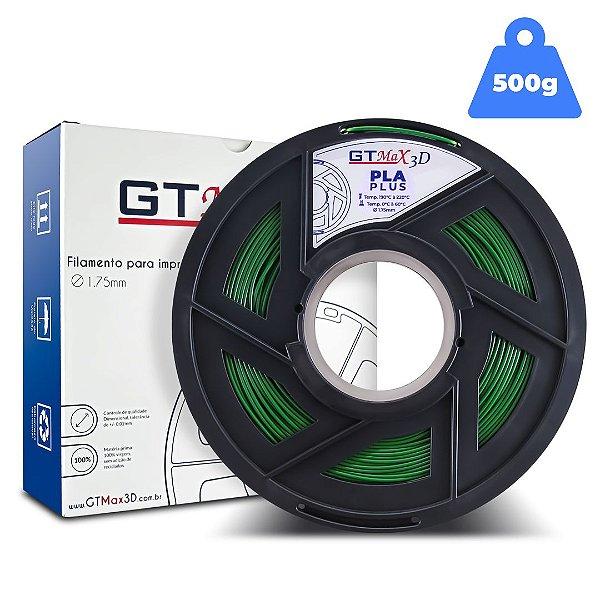 Filamento PLA 1.75mm GTMax3D - Verde - 500g