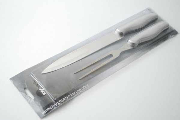 Conjunto de faca e chaira em aço inox