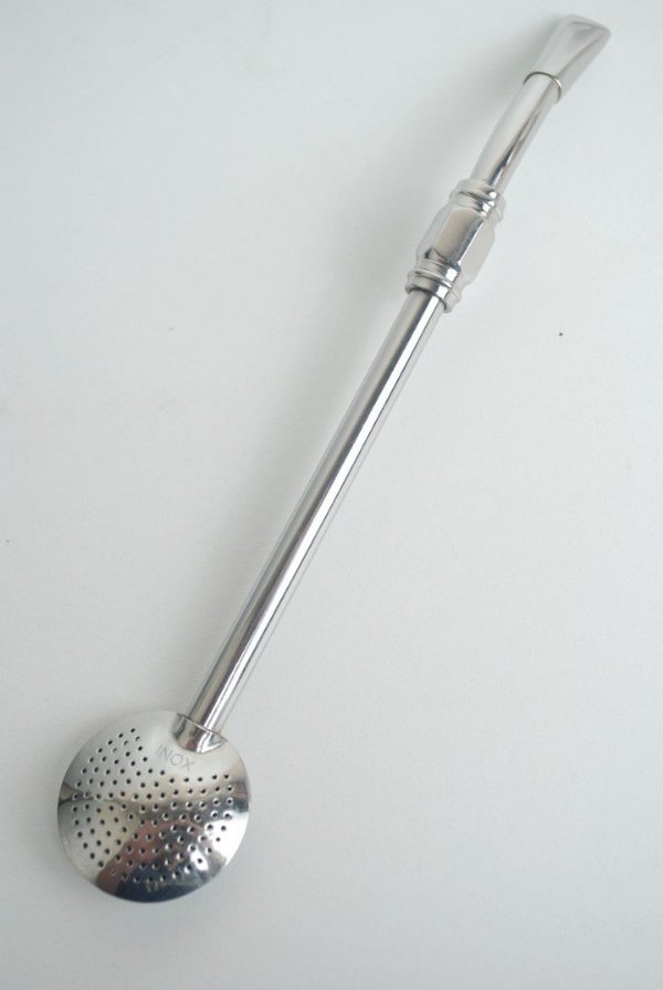 Bomba de chimarrão em Aço inox - pequena - 206.