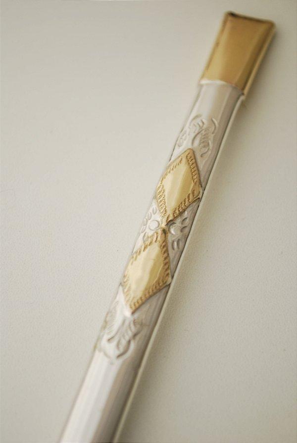 Bomba de chimarrão em ouro e prata - 206