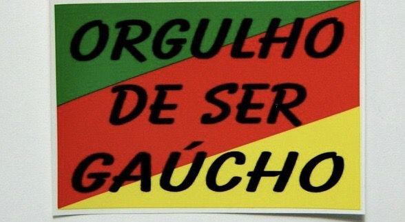 Adesivo 4,5cm x 3 cm - Orgulho de ser Gaucho - 207