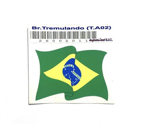 Adesivo 4 cm x 3 cm - Bandeira do Brasil - 207