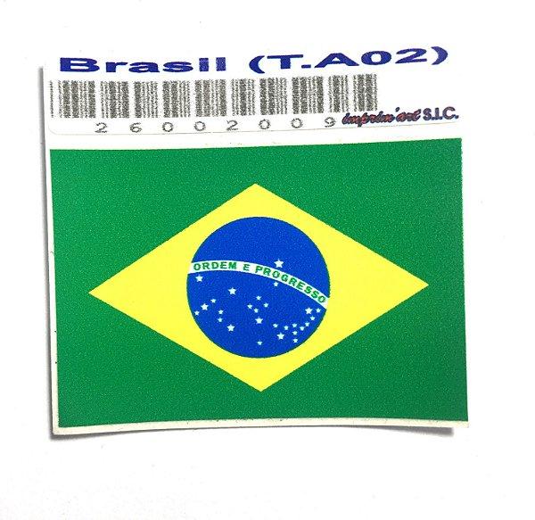 Adesivo 4,5 cm x 3 cm - Brasil - 207