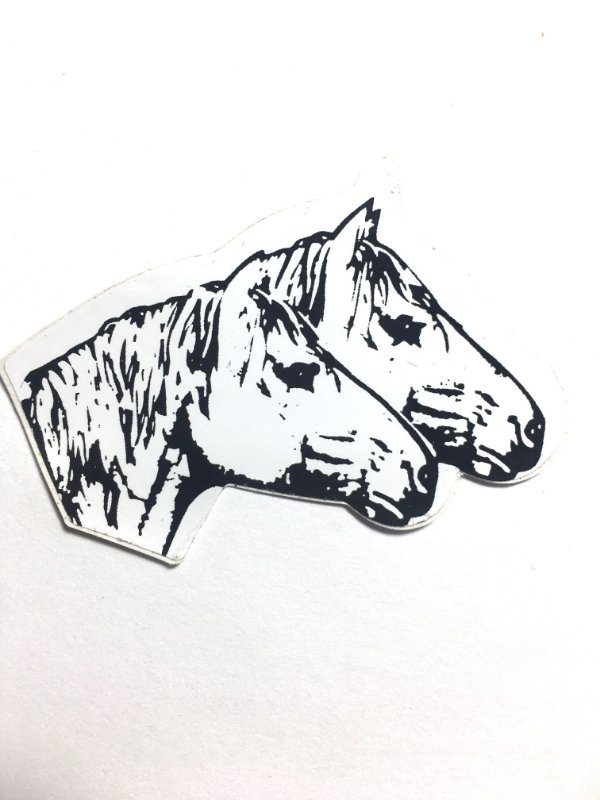 Adesivo 6 cm x 4 cm - cavalos - 207