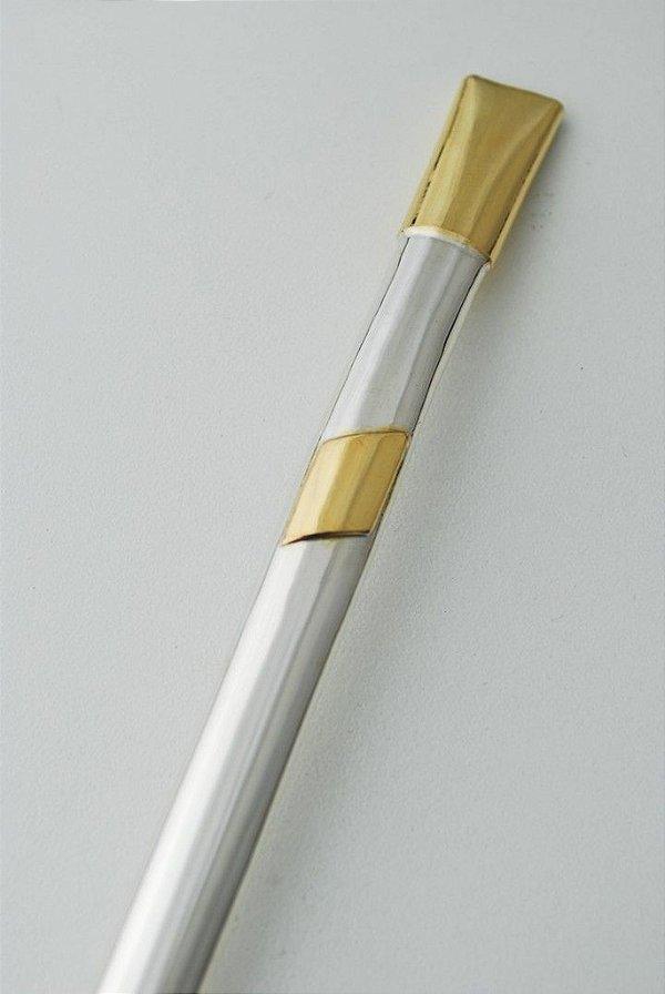 Bomba de chimarrão em ouro e prata - 205