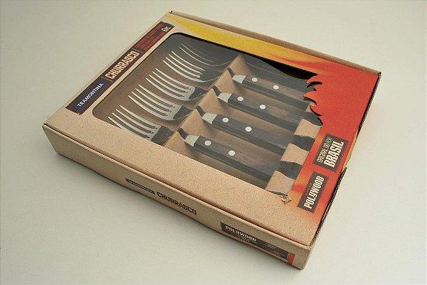 Conjunto de 6 garfos para churrasco