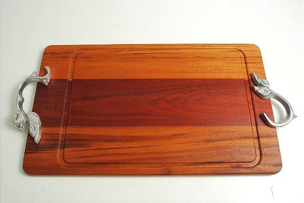 Tábua em madeira com alumínio fundido - 2011