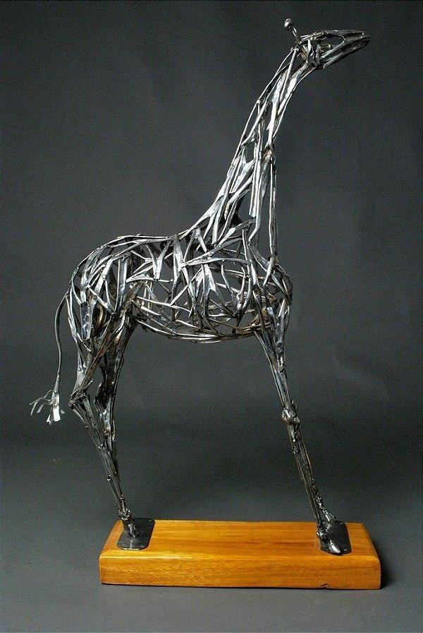 Escultura Girafa