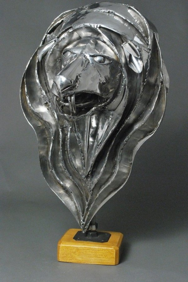 Escultura Cabeça de Leão Mandala ok