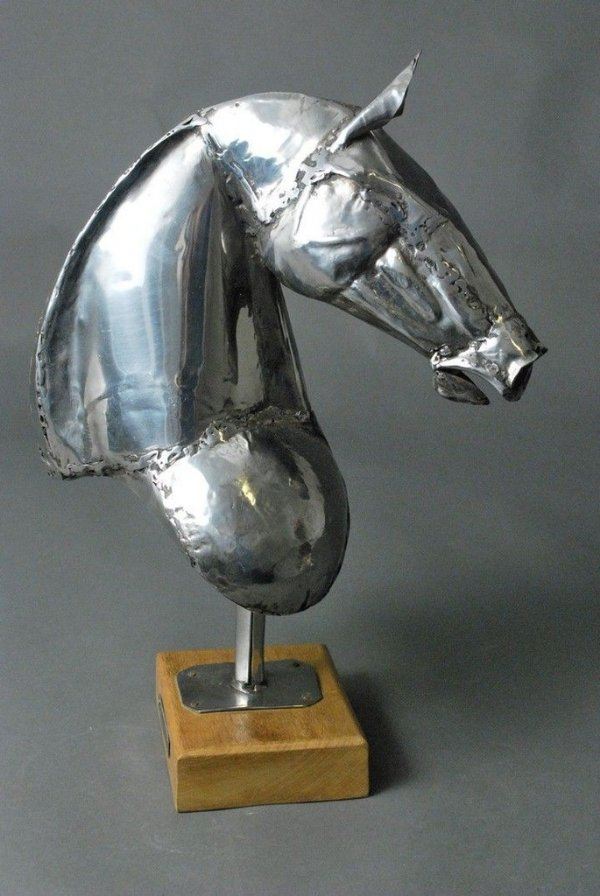 Escultura Busto de cavalo