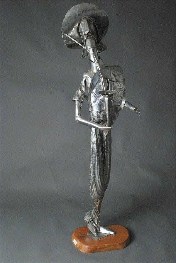 Escultura Gaúcho em inox e solda