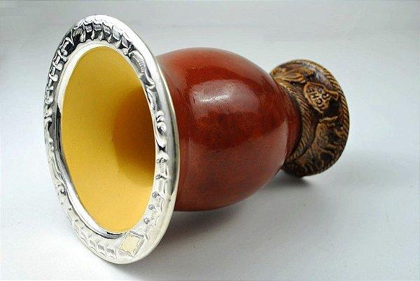 Cuia com bocal de ouro e prata - 207