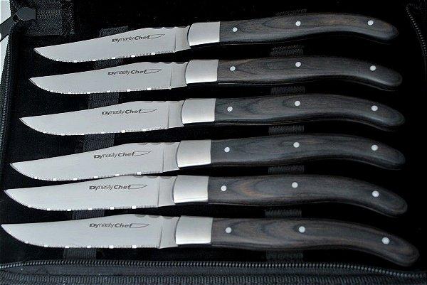 Conjunto de 6 facas forjadas