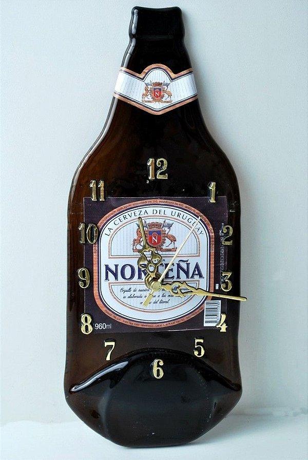 Relógio de garrafa de vidro