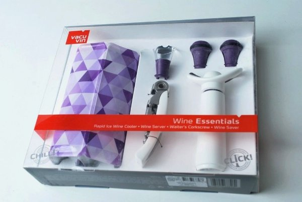 Conjunto para vinho 6 peças Vacu vin