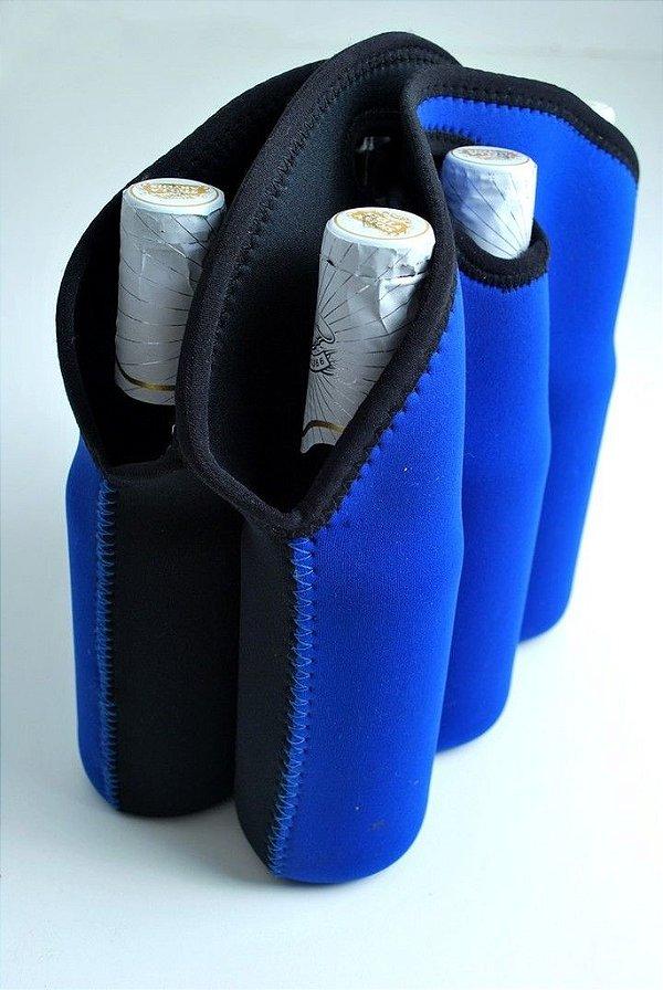 Porta Garrafa em neoprene  para 6 long neck