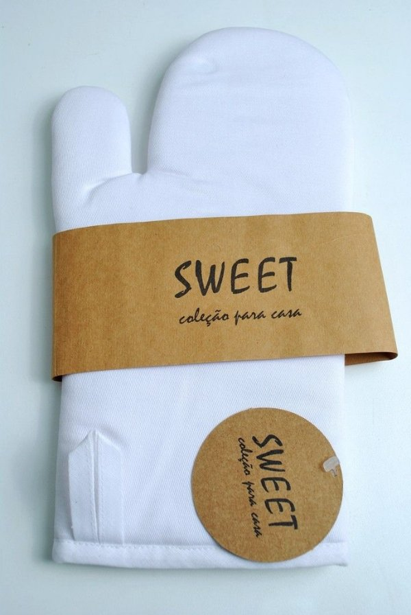 Luva para cozinha assados e gralhados em tecido