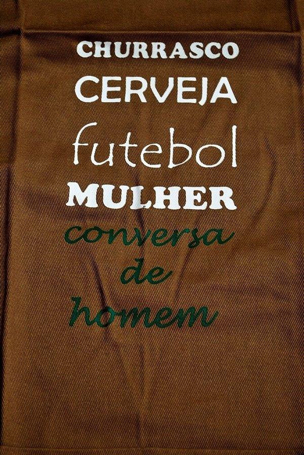 Avental - Churrasco,Cerveja, futebol, Mulher - Conversa de Homem