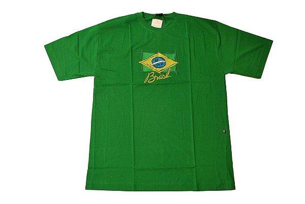 Camiseta do Brasil com estampa bordada