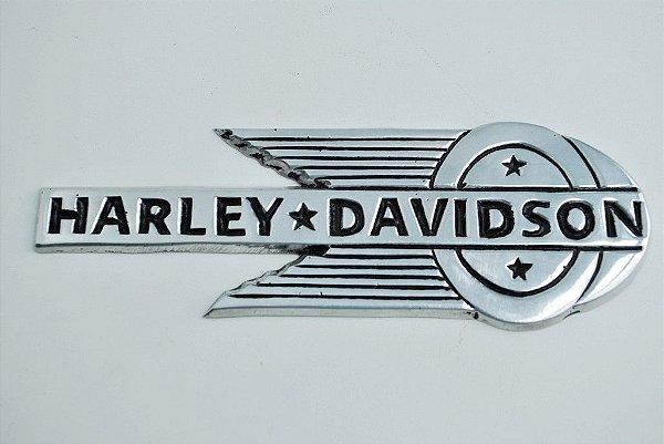 Placa Harley Davidson em alumínio fundido