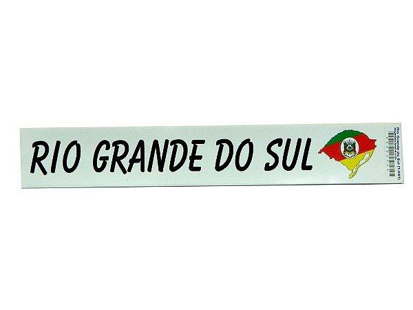 Adesivo 25cm x4cm - Rio Grande do Sul -207