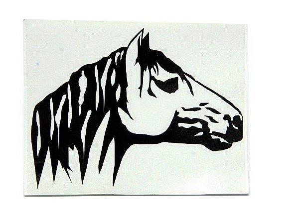 Adesivo Cabeça de cavalo 11cm x 9,5 cm - 207