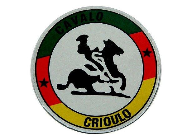 Adesivo  12,5 cm Cavalo Crioulo