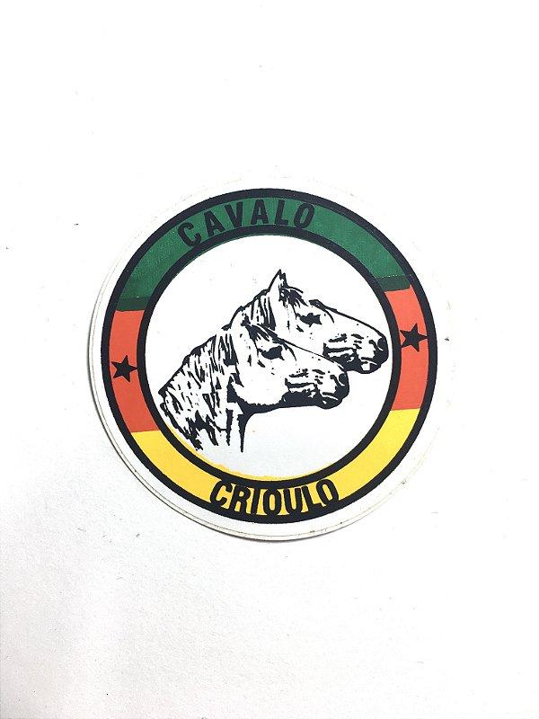 Adesivo  5,5 cm - Cavalo Crioulo - 207