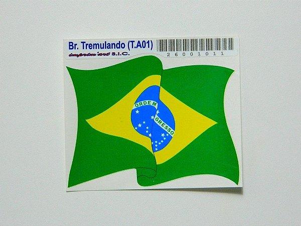 Adesivo   8 cm - Bandeira Tremulando - 207