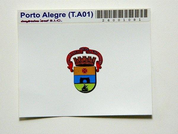Adesivo   9,5cm x 6,5cm Bandeira de Porto Alegre