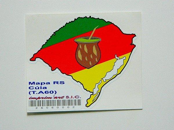 Adesivo 7,5 cm Mapa com cuia