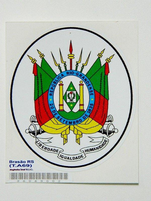 Adesivo 9 cm Brasão Republica Rio Grandense - 207