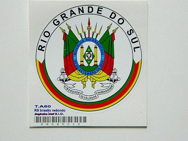 Adesivo 7 cm Brasão Republica Rio Grandase 20 de setembro de 1835