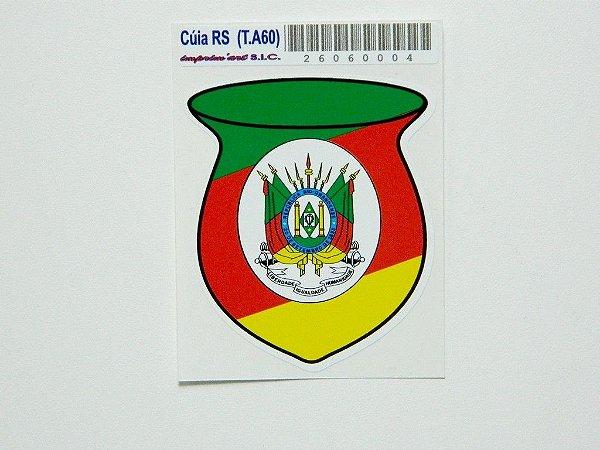 Adesivo 5cm x 6 cm Bandeira do Rio Grande