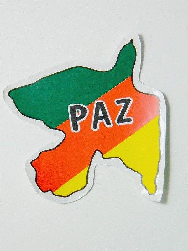 Adesivo 7 cm x 6,5 cm - Paz - 207