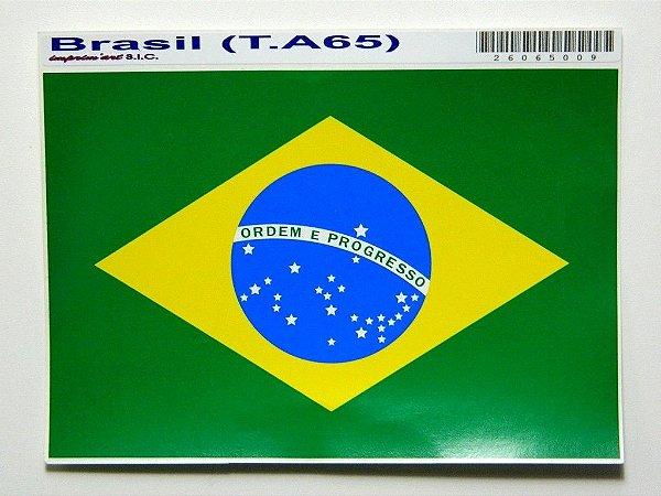 Adesivo 15 cm x 10 cm Bandeira do Brasil -207
