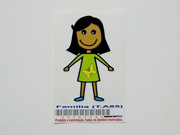 Adesivo da família menina 5,5 cm