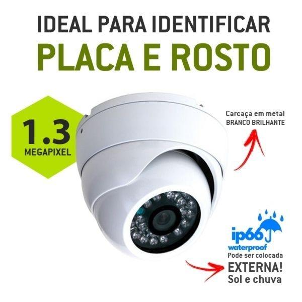 CÂMERA DOME EXTERNA AHD - M ALTA DEFINIÇÃO 1.3 MEGA PIXEL - 960 P - IR Cut