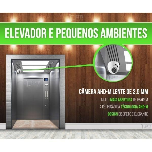 CÂMERA PARA ELEVADOR DOME AHD - M ALTA DEFINIÇÃO 1.3 MEGA PIXEL - 960 P - IR Cut