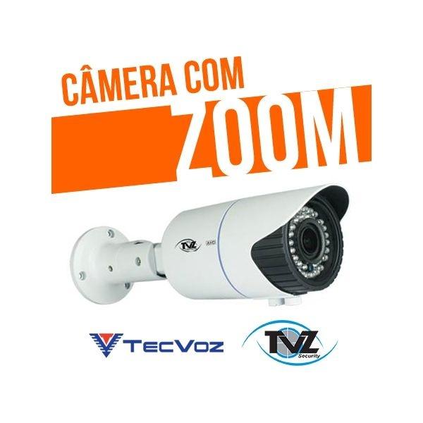 CÂMERA COM ZOOM AHD VARIFOCAL 2.8mm À 12mm HIBRIDA TVZ