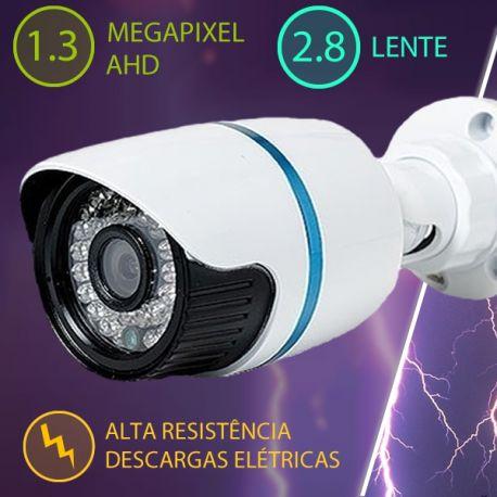 CÂMERA DE SEGURANÇA AHD-M 1.3 MEGA LENTE 2.8 - ANTI-RAIO