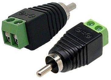 CONECTOR RCA COM BORNE