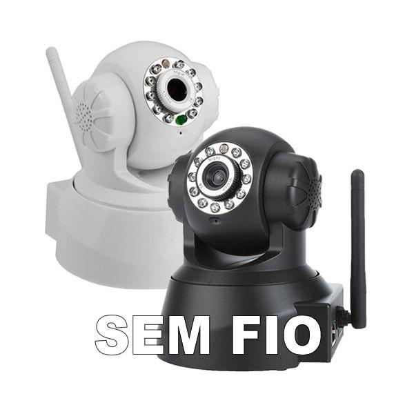 CAMERA IP SEM FIO WIRELESS INFRAVERMELHO COM ACESSO INTERNET GRÁTIS + SLOT PARA CARTÃO DE MEMÓRIA