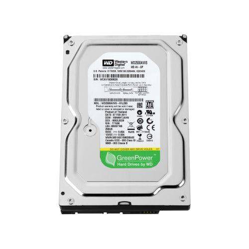 HD SATA WESTERN DIGITAL GREEN 250GB PARA DVR