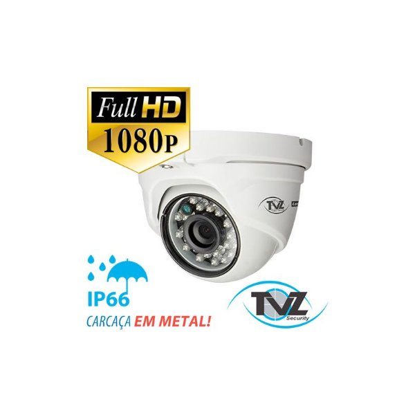 CÂMERA FLEX TVZ 2MP FULL HD - DOME METAL EXTERNA
