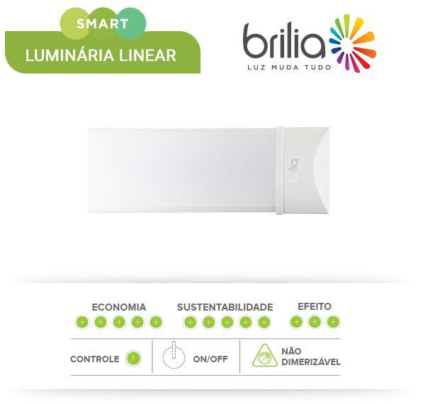 LUMINÁRIA LED LINEAR SLIM 60CM - BRILIA