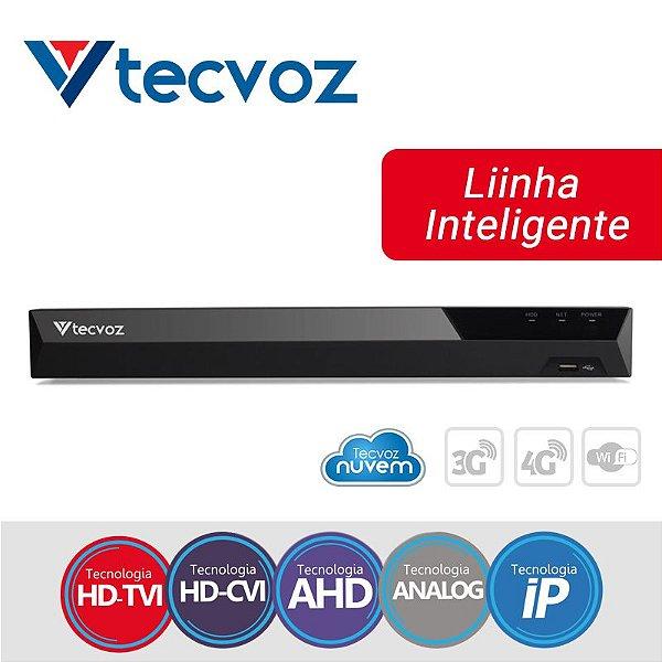 DVR 5 MEGAPIXEL 4 CANAIS 5 EM 1 STAND ALONE HÍBRIDO TECVOZ TV-U2004