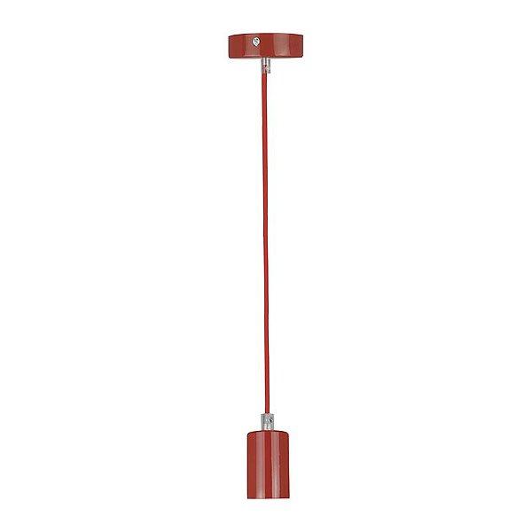 P14174A-Red – Pendente colorido vermelho - Atacadista - Premier Iluminação