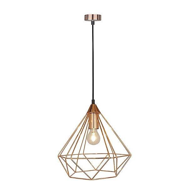 P15113D – Pendente aramado diamante rosé-gold - Atacadista - Premier Iluminação