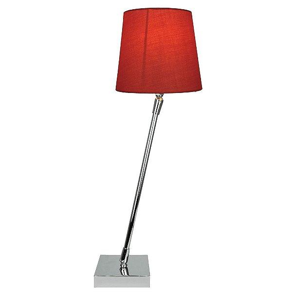 T15162-Red – Abajur haste giratória vermelho - Atacadista - Premier Iluminação
